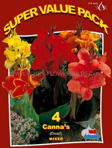 SUPER VALUE PKGS. CANNA DWARF 'MIX' 3-5 EYE (15 PKGS.X 4)